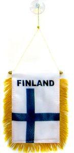 AZ FLAG Fanion Finlande 15x10cm - Mini Drapeau finlandais 10 x 15 cm spécial Voiture - Bannière