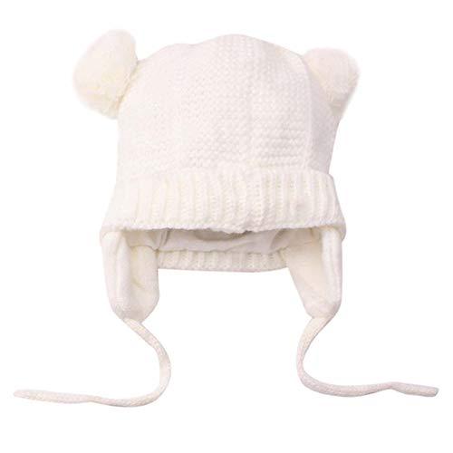 5275bdf85a6 DAY8 Bonnet Bébé Fille Naissance Hiver Chaud Bonnets Bébé Fille Pompom  Enfants Garçon Chapeau Tricotés Casquette