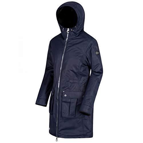 Regatta Womens/Ladies Romina Full Length Hooded Jacket (UK Size 14) (Grey Blue)