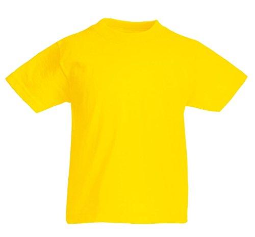 fruit-of-the-loom-t-shirt-bambini-e-ragazzibambine-e-ragazze-giallo-giallo