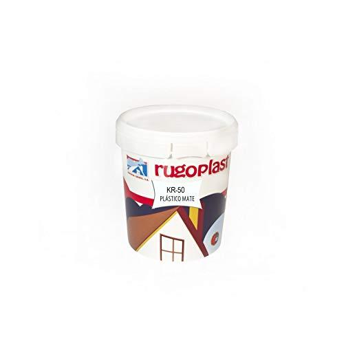 Pintura plástica blanca mate de alta calidad interior/exterior ideal para decorar tu casa (salón, cocina, baño, dormitorios.) KR-50 (0,750 L). Envío GRATIS 24 h.