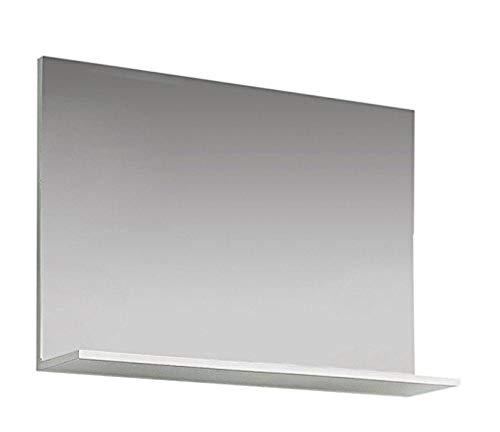 Trendteam Perchero Espejo de Pared Amanda, 91 x 60 x 14 cm en Blanco con repisa