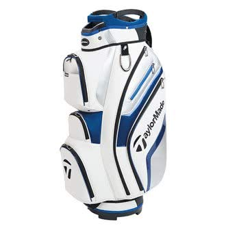 TaylorMade Golf 2018 Deluxe Cart Bag Mens Trolley Bag 15 Way Divider White/Blue