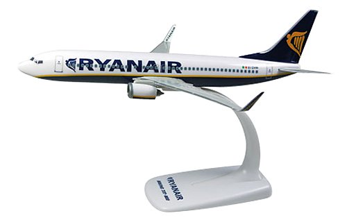 Herpa 609395 Ryanair Boeing 737-800 1:200 Snap-Fit Model