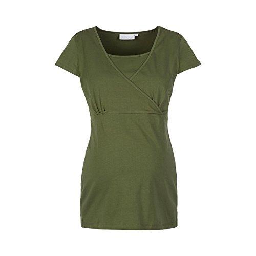 2HEARTS Le T-shirt de grossesse et d'allaitement T-shirt de grossesse T-shirt de grossesse Four Leaf Clover Green