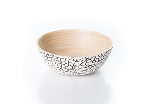 Bambus-Schale - H 6 cm, Ø 15 cm - Bamboo - Naturprodukt Holz Rohlinge Für Schalen