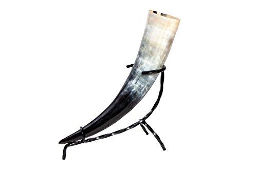 Trinkhorn ca. 500 - 590 ml 0,5 - 0,59l inkl. Tischständer Bier Horn