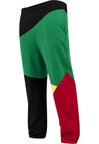 Urban Classics -  Pantaloni sportivi  - straight - Uomo Nero/Rasta