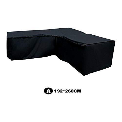 Morningtime Gartenmöbel Schutzhülle L-Form Abdeckung für Loungemöbel Wasserdicht Staubdicht Sofa Abdeckung aus Polyestergewebe Regenschutz für Outdoor Terrassenmöbel Gartentische