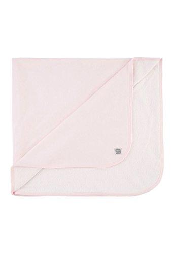 Puchtuck / Babydecke / Puchdecke für Babys und Neugeborene mit Frottee, Rosa, 80x80 - Plain MINUTUS
