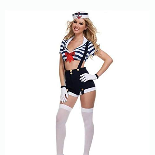 Tanz Kostüm Kinder Up Spiele Dress - Cosplay Sailor Navy Pack, Spiel Uniform Party Party Sexy Cosplay Kostüm, Halloween Dress Up J