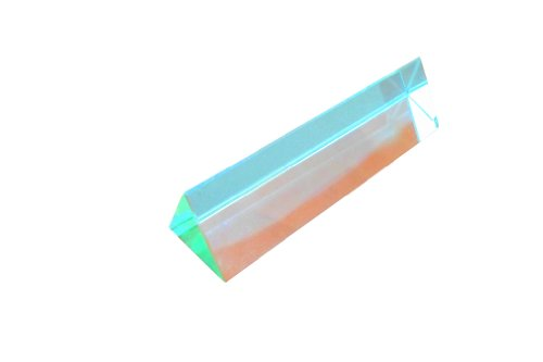 Ajax Scientific Optical Glass Equilateral Prism, 25mm Length x 100mm Height