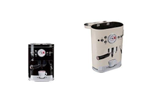 Metalldose Kaffeedose Espresso Maschine klein Kaffee Pad Retro Kaffeemaschine