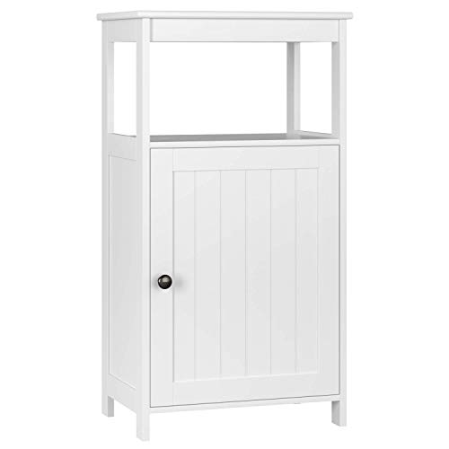 Homfa Armario Almacenaje Armario de Suelo para Cocina Salón Baño Dormitorio con 1 Puerta 1 Estante Blanco 45x30x83.5cm