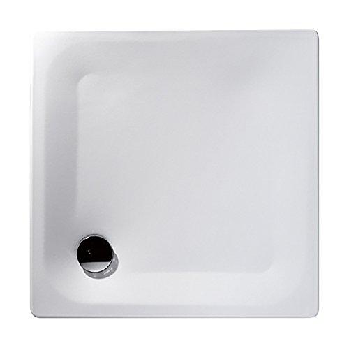 Stahl-Brausewanne Sunda | Extra flach | 90 x 90 x 2,5 cm   Weiß