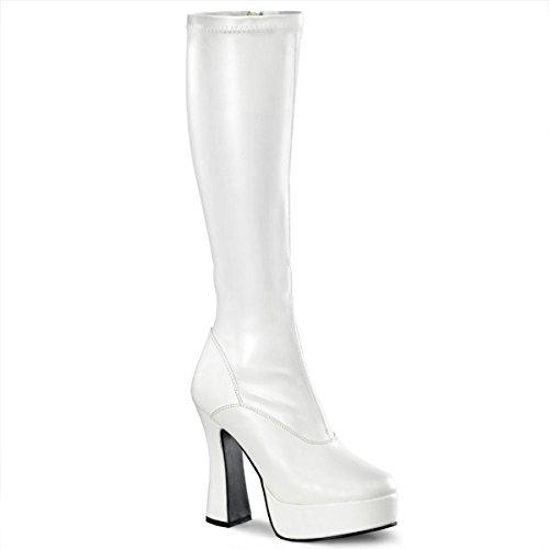 Pleaser Electra-2000Z - Sexy Komfort Plateau-Stiefel High Heels 36-48, Größe:EU-46 / US-15 / UK-12