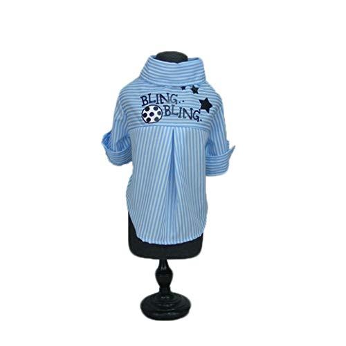 AMURAO Sommer-Streifen-Hundet-Shirt Netter Fußball-Welpen-Weste-Baumwollkatzen-Kleidung-weiche Sweatshirts für kleine Hunde -