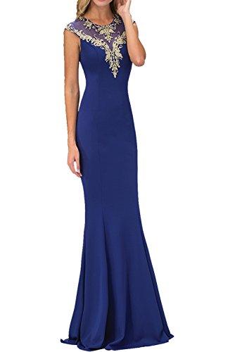 Charmant Damen Elegant Rotes langes Abendkleider mit Spitze Ballkleider Etuikleider Chiffon Kleider 2017 Neu Royal Blau