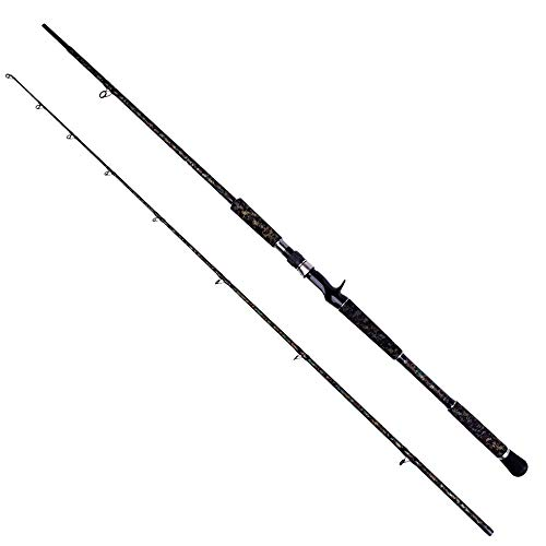 DAMAI STORE Fischen gehen 2,32 m Pistolengriff Schwarze Mine Starke zweigeschossige Donner-Fuji-Zubehör Luya-Fischbestands-Angelrute Dschungel-Tarnungsmalerei Arder