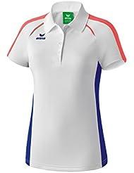 Erima niña Masters Blanco de Polo Camiseta, todo el año, niña, color weiß/Mazarine blue, tamaño 12 años (152 cm)