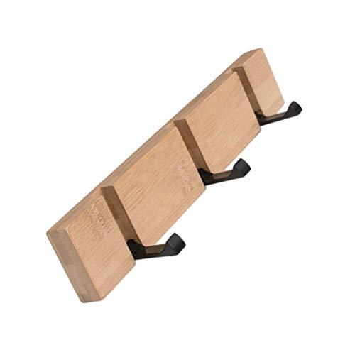 NewbieBoom Joshipin Garderobenhaken aus Holz Garderobenhaken Modern und einfach Sparen Sie Platz für Jacken Mäntel Schals Taschen und mehr (Farbe, Holzfarbe, Größe, 3), Holz