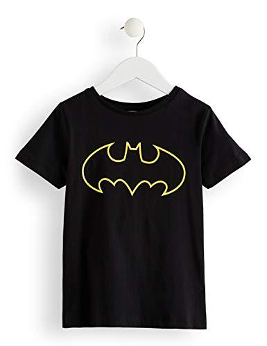 RED WAGON Jungen T-Shirt DC Batman-Print, Schwarz (Black 001), 140 (Herstellergröße: 10 Jahre) -