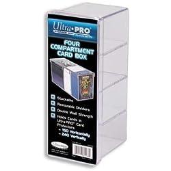Ultra Pro caja de tarjetas 4 compartimientos transparente 320 cartas