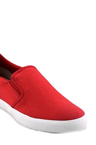 Lacoste - Lacoste Jouer Slip on Sneakers Uomo Tela Rosso Mod Vans Nuova Collezione 2017 - 732CAM0088047 Rosso