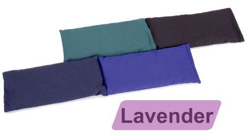 Yoga Direct Large Cotton Eye Pillow (Lavender Scented) - Black