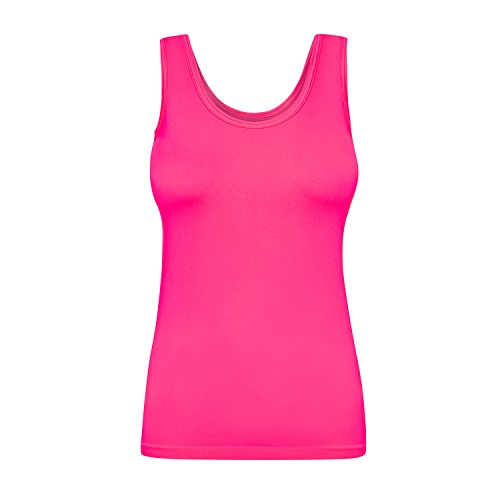 Assoluta Damen Tank Top, Größe XL, neon pink (Tank Damen Top Shirt Pink)