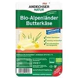 Andechser Natur Butterkäse, geschnitten, laktosefrei inkl. Kühlverpackung (150 g) - Bio