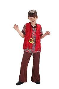 Creaciones Llopis Disfraz Infantil Party Hippy T-M (7 A 9 AÑOS), Multicolor (83013