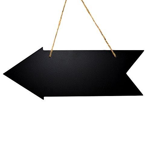 l / Schild zum Aufhängen und beschriften - 40 x 15 cm, Pfeil - Holztafel / Hochzeitsschild / Hochzeitstafel / Tafel Hochzeit / Wegweiser / Memotafel / Kreidetafel (Hochzeits-tafel)