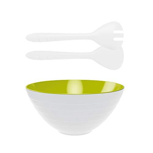 Zak! designs 1283-8000 Wave Saladier, Blanc/Vert