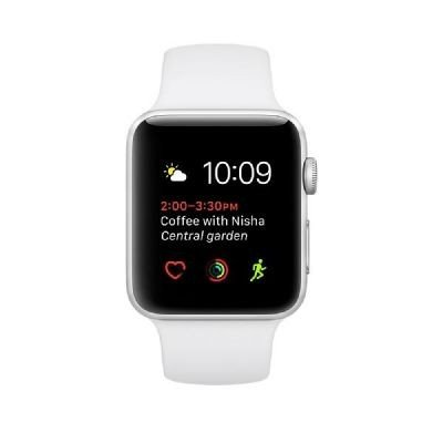 Apple Watch Series 3, 38 mm, GPS, Aluminium Gehäuse, Silber mit Sport-Armband, Nebel, 2017
