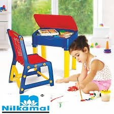 Nilkamal Apple Junior's Study Table Set - Red And Blue