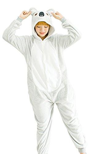 Combinaison Pyjama Animaux en Polaire Chaud Hiver Cosplay Costume Grenouillère Adulte Unisexe