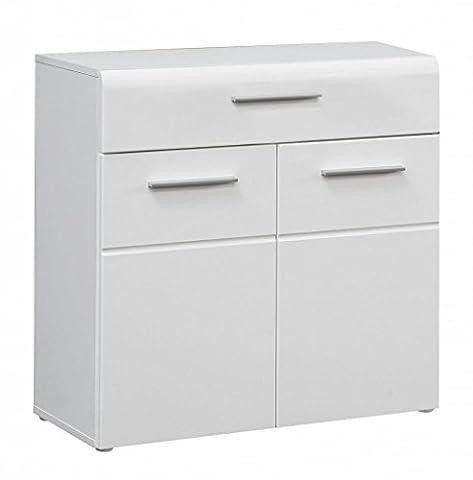 Kommode SLATE 2 Türen 1 Schublade, Front weiß Hochglanz, von Forte