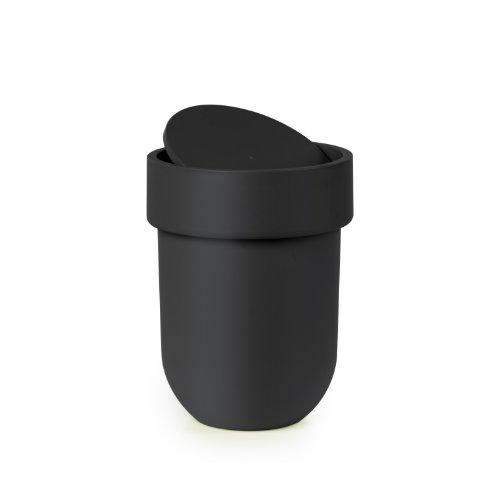 Umbra Touch Abfalleimer mit 6 L Fassungsvermögen und Schwingdeckel – Kosmetikeimer und Papierkorb...