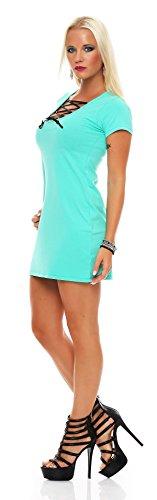 Longshirt Sommer Shirt in 7 Farben Gr. S M 36 38, 1248 Mintgrün