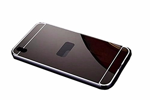 HTC Desire 816/816G Case, Norby Luxury Metal Bumper+Acrylic Mirror Back Cover Case For HTC Desire 816/816G - (Black Mirror)