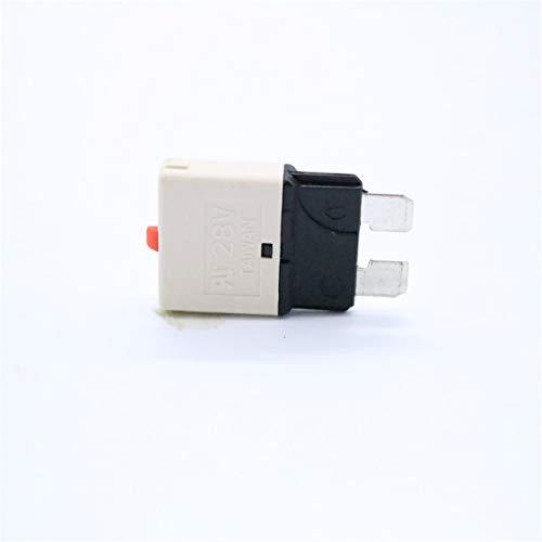 DEjasnyfall 25 Ampere 28 V DC-Leistungsschalter Kfz-Flachsicherungen Kfz-Handrückstellsicherung Kfz-Versicherungstabletten Überlastschutzvorrichtung (weiß) - Electronic Low-voltage-single-pole