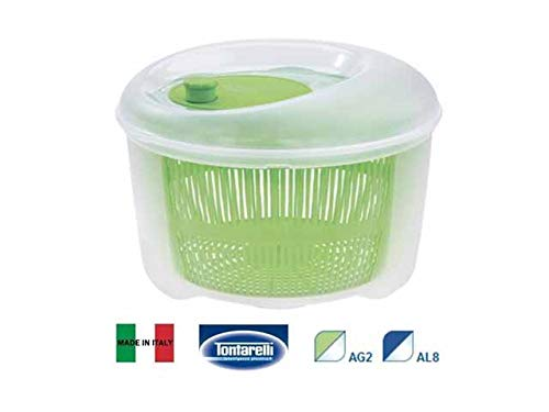 Tontarelli Essoreuse à Salade, Vert Transparent, 4.5 Lt