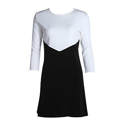 La Cabina Femme Sexy Mini Robe T-Shirt + Manche Longue Confortable pour Femme Professionnelle Blanc