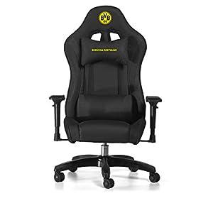 BVB-MULTI GAMING CHAIR – Offiziell lizenzierter  BVB Gaming Chair – Büro Stuhl – Elegantes Design – Schwarz [ ]