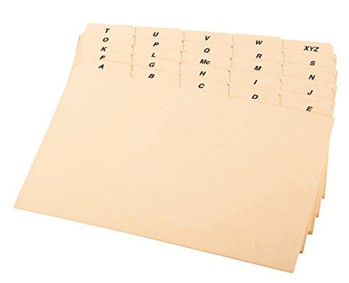 Oxford A-Z Index Card Guide Set, 10,2x 15,2cm, Manila, 25pro Set (b6425) Rezept-teiler