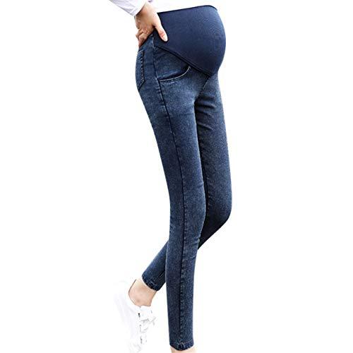 HCFKJ Ropa Premamá Invierno Talla Grande para Mujer Mangas Largas Tops Blusas Embarazo Maternidad Embarazo Skinny Pantalones Jeans sobre Los Pantalones EláStico