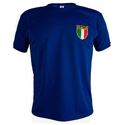 Italia Camiseta Retro Fútbol Manga Corta Hombre -
