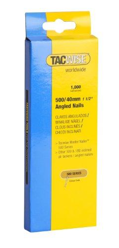 Tacwise 0483 Nägel Gewinkelt Verzinkt (500/40mm ,1.000 Stück pro Verpackung)