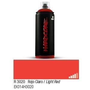 Spray Paint Light (MTN Montana Colors Hardcore 2 - Gloss Spray Paint - 400ml Can - R-3020 / Light Red by MTN)